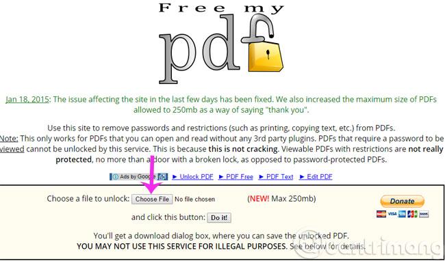 Công cụ Free my pdf