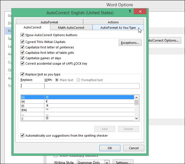 AutoFormat As You Type
