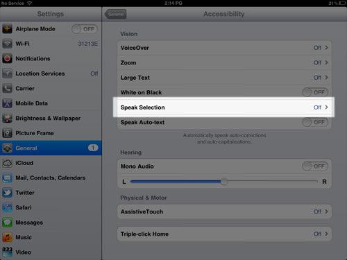 Kích hoạt tính năng Text-to-Speech trong iOS