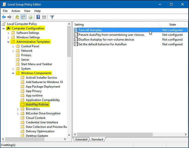 Cách bật, tắt Autoplay trong Windows 10 - Quantrimang com