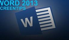 Hướng dẫn vô hiệu hóa ScreenTip trong Word 2013