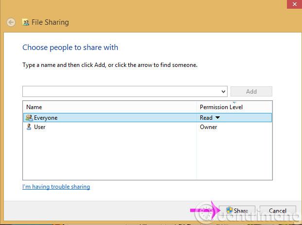 Mẹo nhỏ giúp bạn dễ dàng chia sẻ thư mục trên Windows với Android