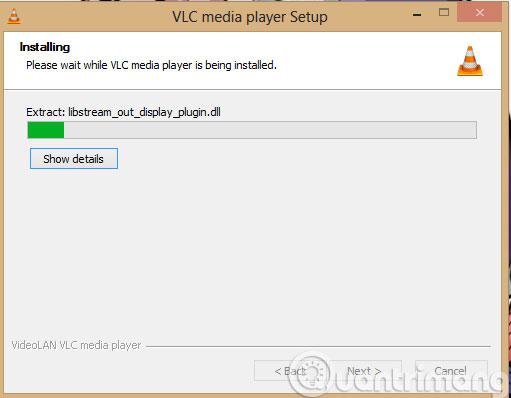 Quá trình cài đặt VLC