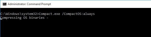 Tính năng Compact OS trên Windows 10 là gì?