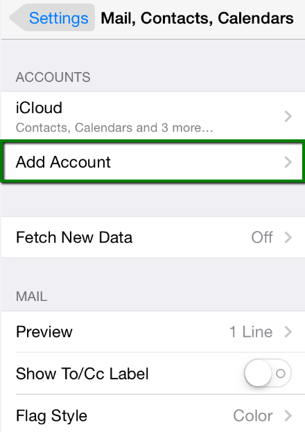 chọn Add Account