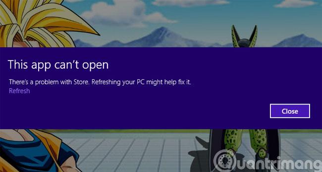 Thông báo lỗi This app can't open