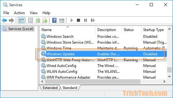 Thủ thuật kích hoạt / vô hiệu hóa Windows Updates trên Windows 10 nhanh chóng, dễ dàng