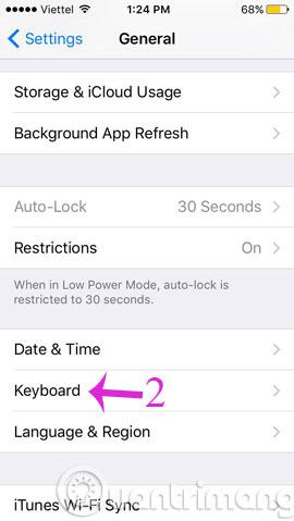 Hướng dẫn bật bàn phím biểu tượng cảm xúc trên iPhone