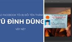 Khắc phục lỗi Facebook bị đổi tên Vũ Đình Dũng
