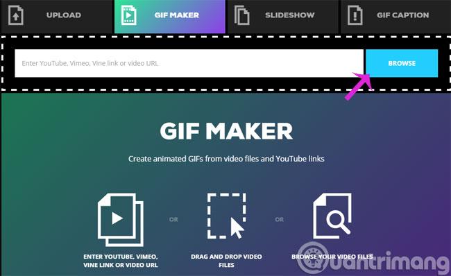 Thêm video để tạo ảnh Gif