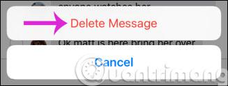 Làm thế nào để xóa hoặc chuyển tiếp từng tin nhắn trên iPhone?