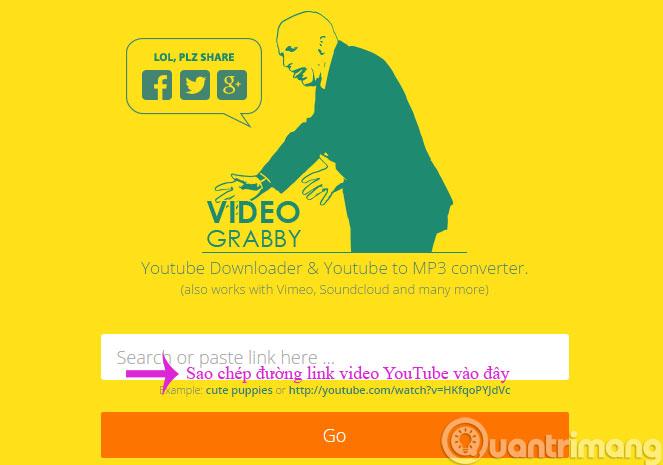 Sao chép đường link địa chỉ video YouTube