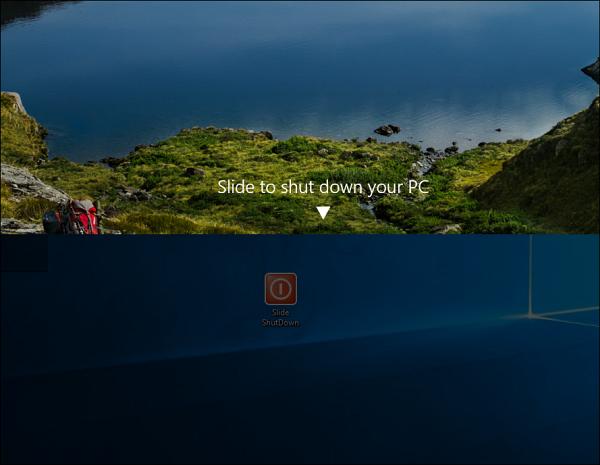 Hướng dẫn tạo shortcut Slide to Shut Down trên máy tính Windows 10