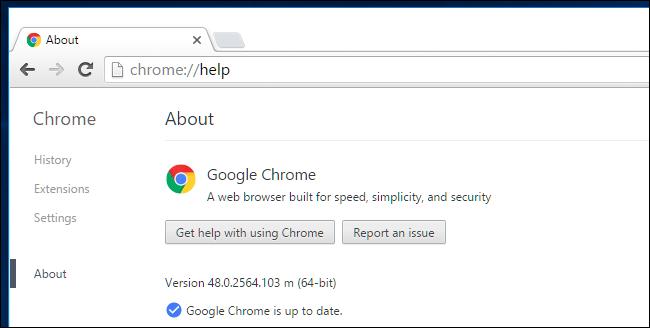 phiên bản Chrome 64-bit
