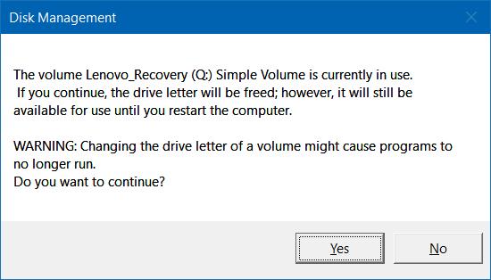 3 cách làm ẩn phân vùng hồi phục (Recovery) trên Windows 10/8.1/7