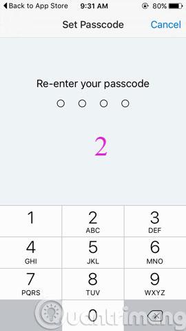Nhập lại mật khẩu