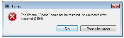 Cách sửa lỗi 3194 khi restore hoặc update iPhone, iPad