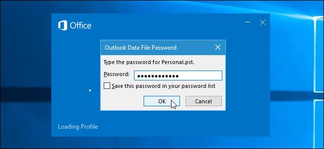 Mật khẩu Outlook
