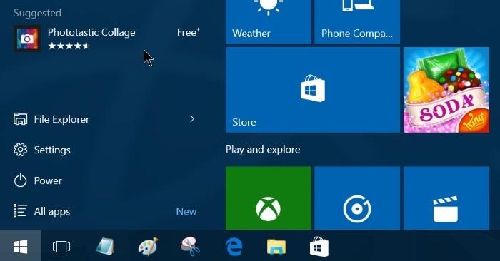 Làm thế nào để tắt gợi ý tải ứng dụng trên Start Menu Windows 10?