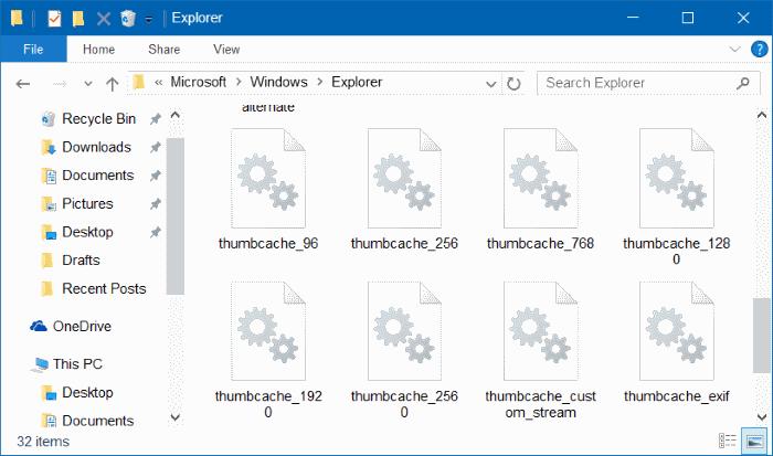 Cách xóa và reset thumbnail cache trên Windows 10