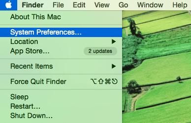 chọn System Preferences