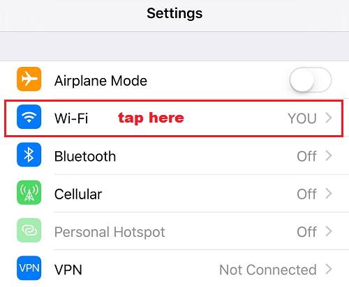 chọn Wifi
