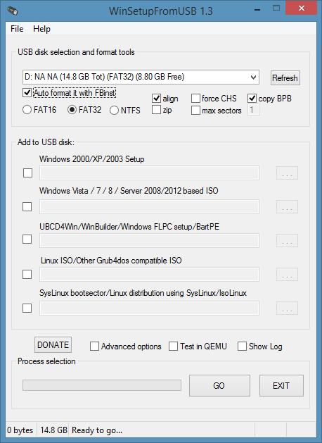 Hướng dẫn tạo USB chứa bộ cài đặt Windows XP, 7, 8 và 10