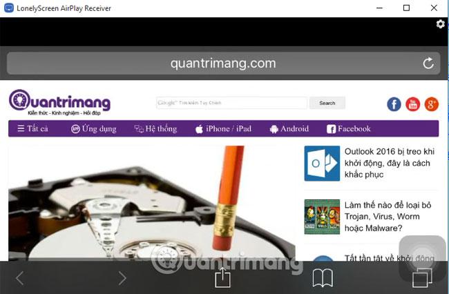 Hướng dẫn trình chiếu màn hình iPhone lên máy tính - Quantrimang com