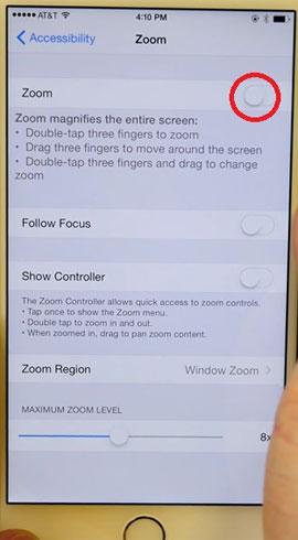 Hô biến màn hình iPhone thành đen trắng