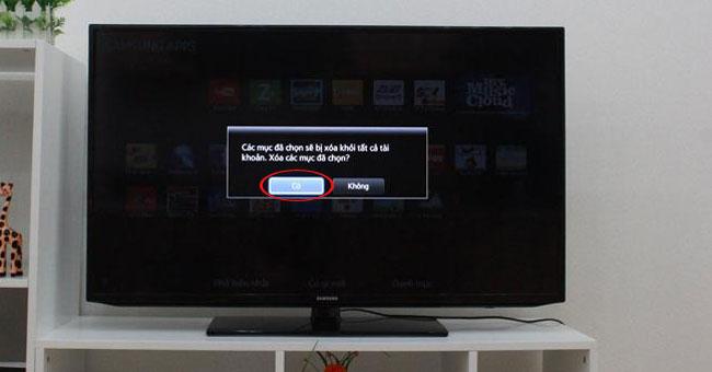 Gỡ bỏ ứng dụng trên tivi Smart Samsung