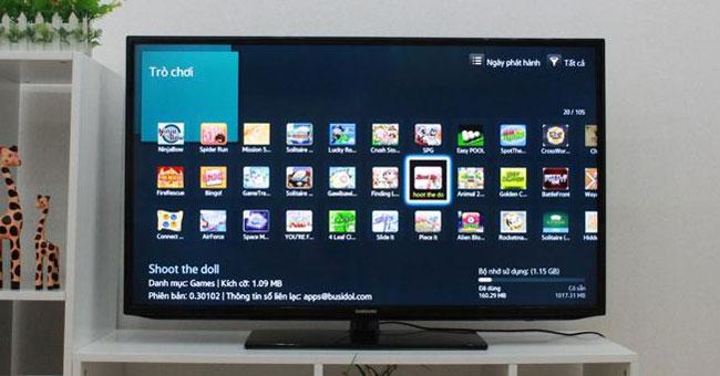 Cách cài đặt và gỡ bỏ ứng dụng trên tivi Smart Samsung
