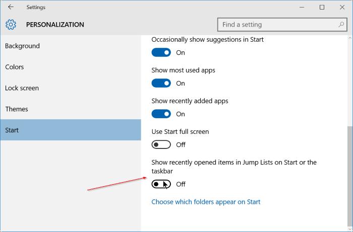 Các bước để xóa lịch sử Jump Lists trên Windows 10