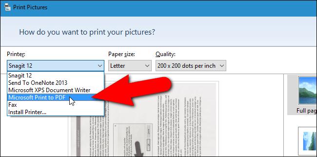 Microsoft Print to PDF.