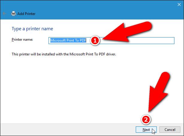 Printer name
