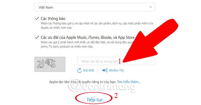 Tạo Apple ID