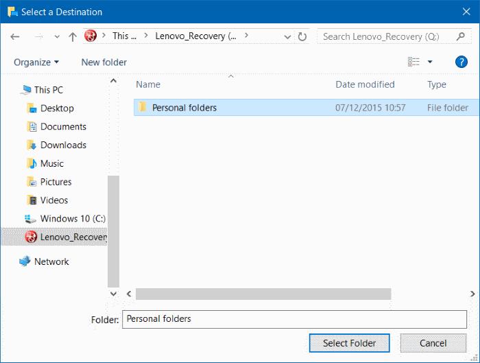 Di chuyển Desktop, Download và Documents sang ổ khác trên Windows 10