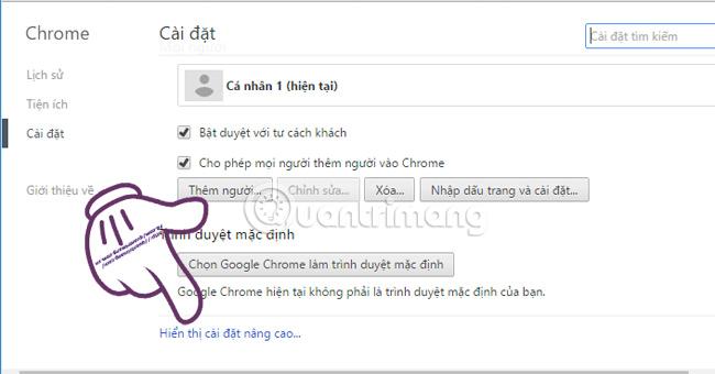 Khôi phục cài đặt mặc định trên Google Chrome
