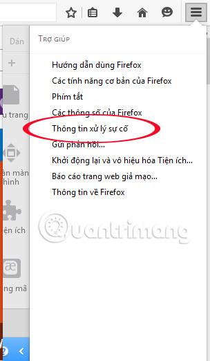 Khôi phục cài đặt mặc định trên Firefox