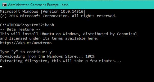 Hướng dẫn chạy Bash của Ubuntu trên Windows 10