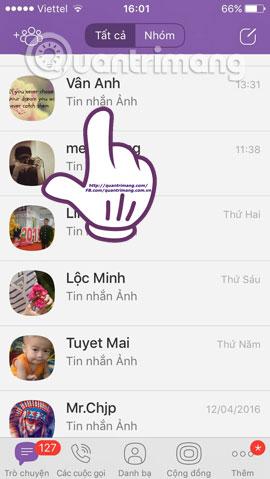 Cách ẩn, giấu nội dung đoạn chat, trò chuyện trên Viber