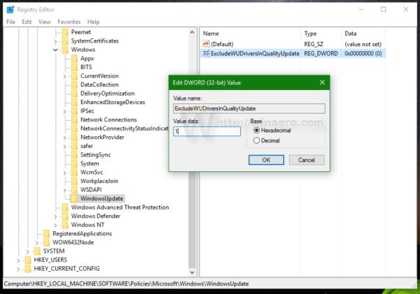 Tắt update driver trên Windows Update Windows 10