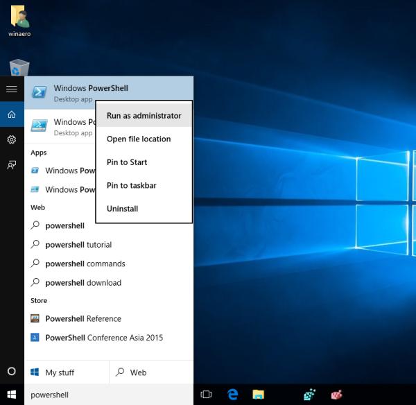Các bước restore lại Windows Store trên Windows 10 sau khi đã gỡ bỏ