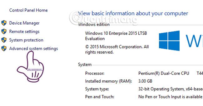Tắt tính năng đổ bóng cửa sổ trên Windows 10