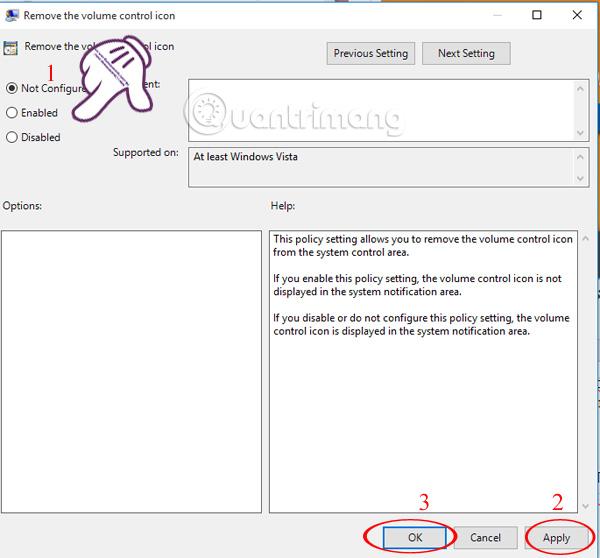 Làm sao lấy lại biểu tượng Volume biến mất trên thanh Taskbar Windows 10?