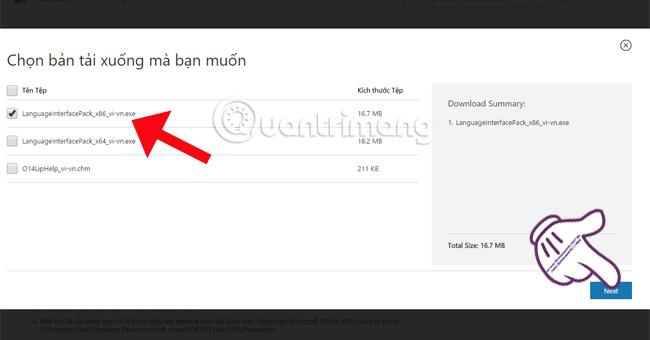 cài đặt giao diện tiếng Việt cho Microsoft Office 2010
