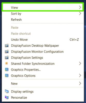 Làm thế nào để thay đổi kích thước Icon Desktop trên Windows?