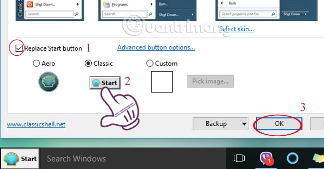 Cách đưa nút Start Windows 7 lên máy tính Windows 10