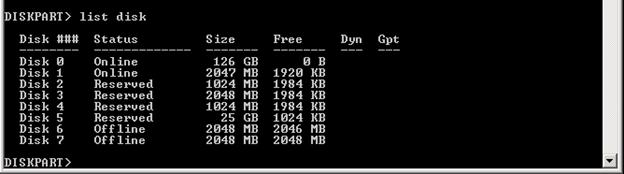 Sử dụng Diskpart để loại bỏ thuộc tính Read-Only trên Disk Windows 7