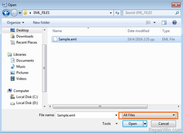 Mở và xem file .EML bằng Microsoft Word