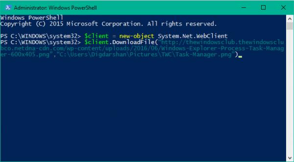 Sử dụng PowerShell để tải một file bất kỳ trên Windows 10